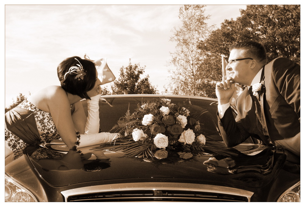 klassische Brautkutsche