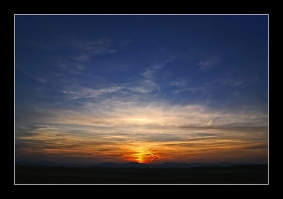 Klassischer Sonnenuntergang