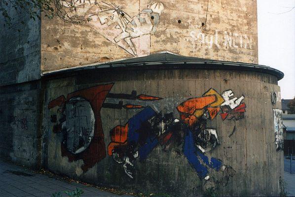 Klaus Paier:...sagt NEIN - Nie wieder Krieg, inoffizielles Mahnmal am Bunker Wittekindstraße, Aachen
