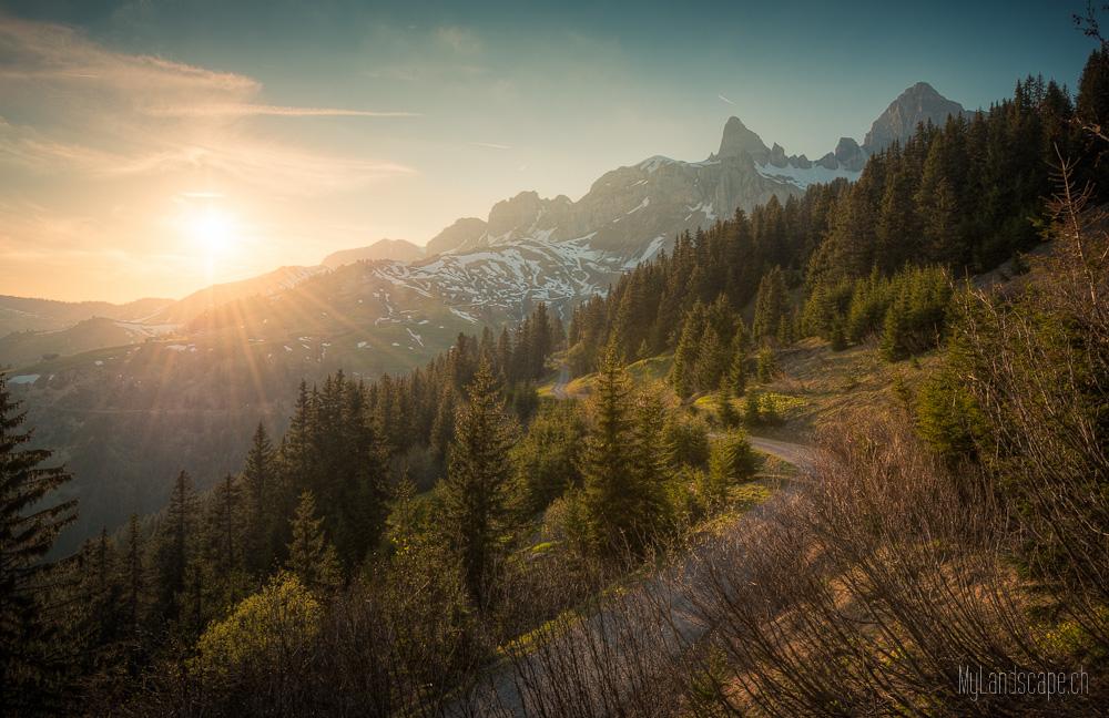 ~ Klausen: Sonnenuntergang und Rossstock ~