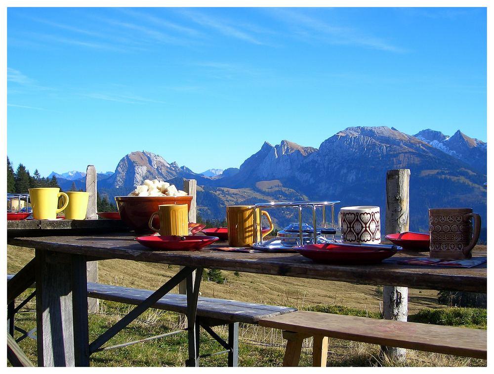 Kleine Adventsfeier in den Schweizer Bergen...