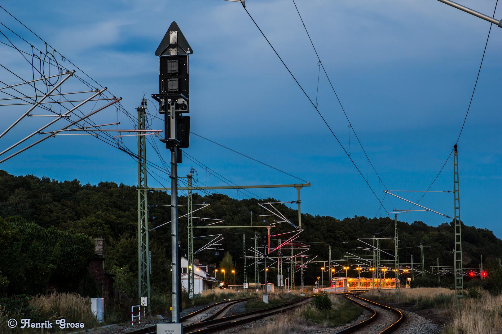 kleine Bahnhof von Lietzow