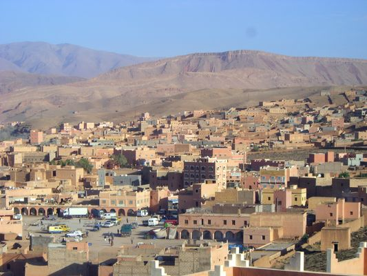 Kleine Berberstadt in Marokko Januar 2010