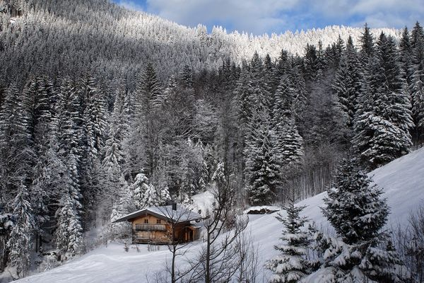Kleine Berghütte