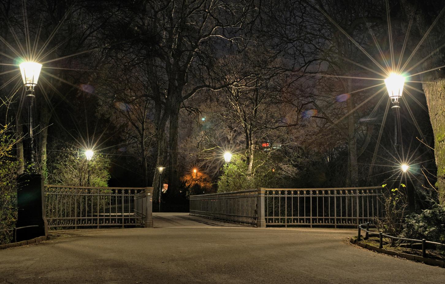 Kleine Brücke im Hotgarten