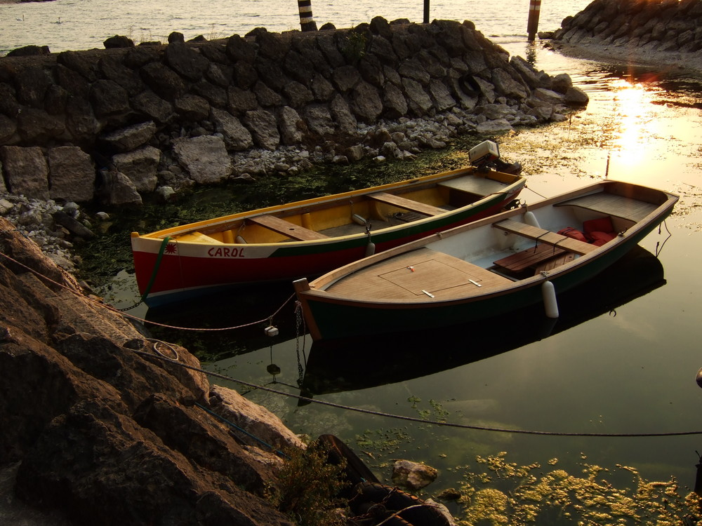 Kleine Bucht am Lago di Garda/Navene
