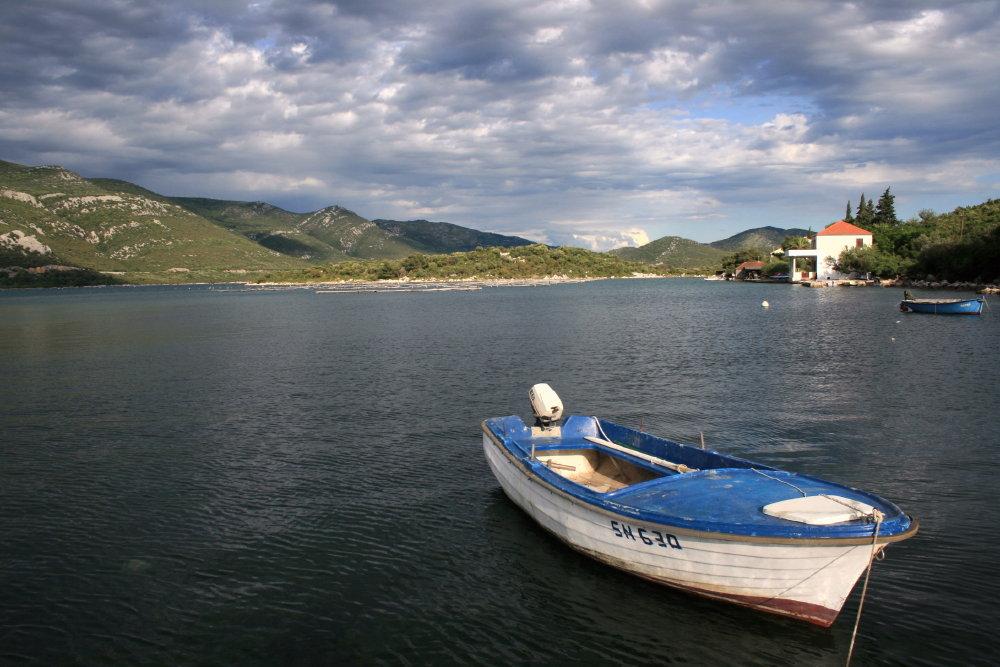 kleine Bucht bei Mali Ston, Kroatien
