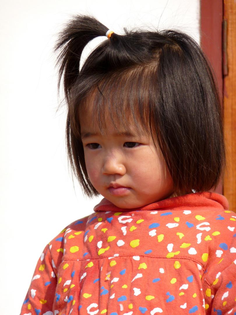 Kleine Chinesin in Phongsali (Laos)