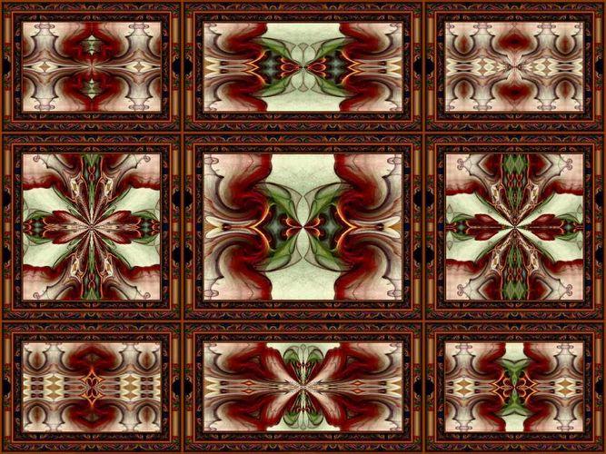 Kleine Galerie Kaleidoscope mit Rahmen