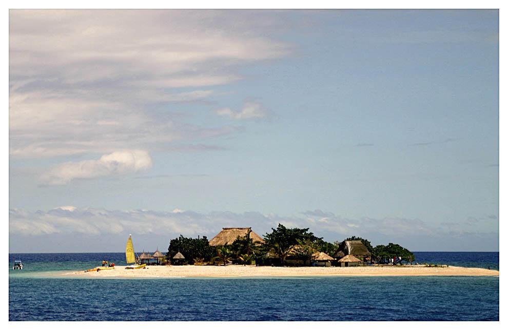 Kleine Insel der Fijis
