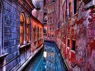 Kleine Kanäle von Venedig