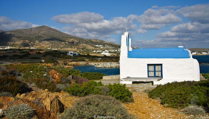 Kleine Kapelle bei Cape Pirghos auf Paros