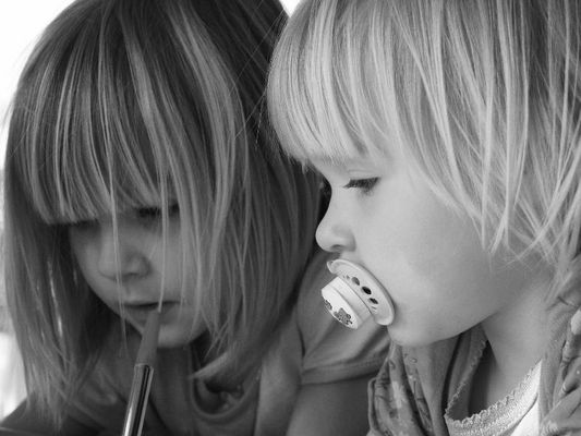 kleine Schwester - große Schwester