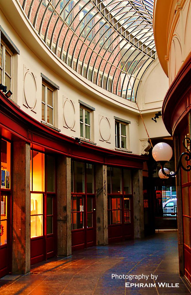 kleine Seitenpassage in Brüssel