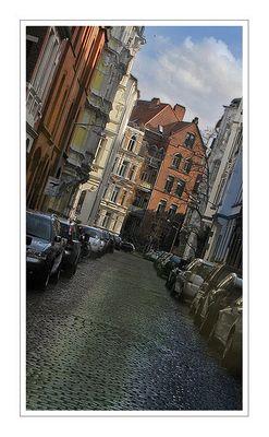 Kleine Straße nach dem Regen...