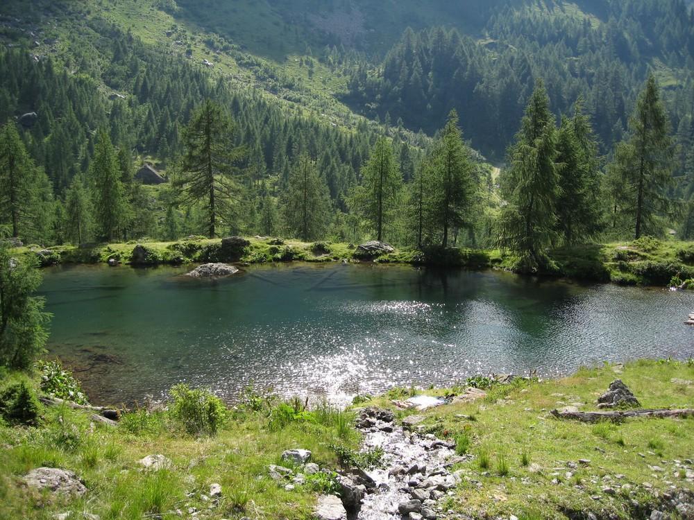 Kleiner Bergsee in Kärnten (Obergail)