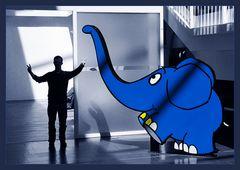 Kleiner  blauer Elefant