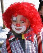 Kleiner Clown beim Fasching