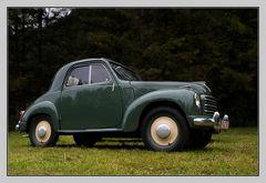 kleiner grüner Fiat