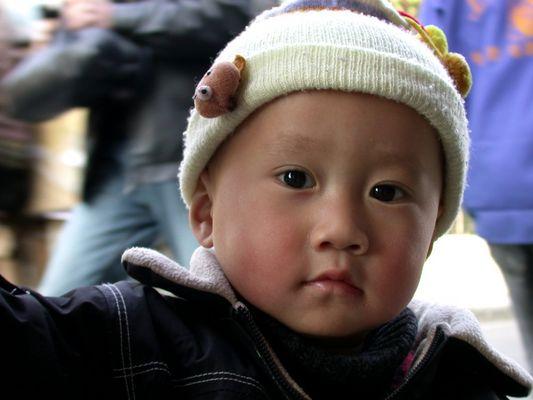 Kleiner Junge in Shanghai