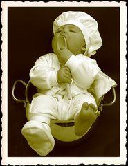 Kleiner Koch im Topf ;-)