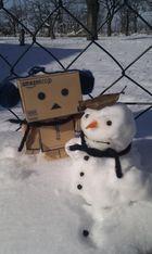 Kleiner Kumpel im Schnee