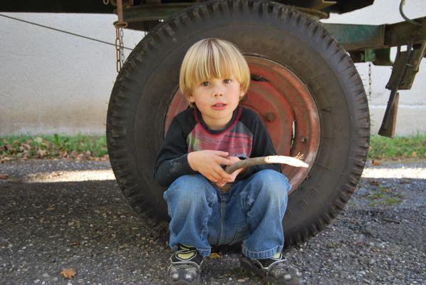 Kleiner Mann, großes Rad