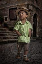 Kleiner Mann unterwegs....