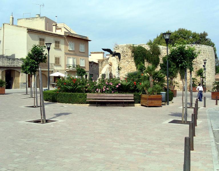 Kleiner Platz in Alcudia (Mallorca)