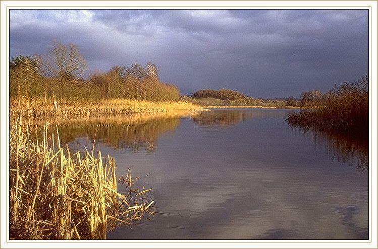 Kleiner See im Barnim/Brandenburg im März