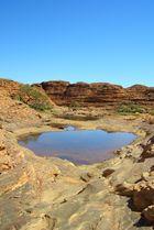 """""""kleiner See"""" oder """"große Pfütze"""" auf dem Kings Canyon"""