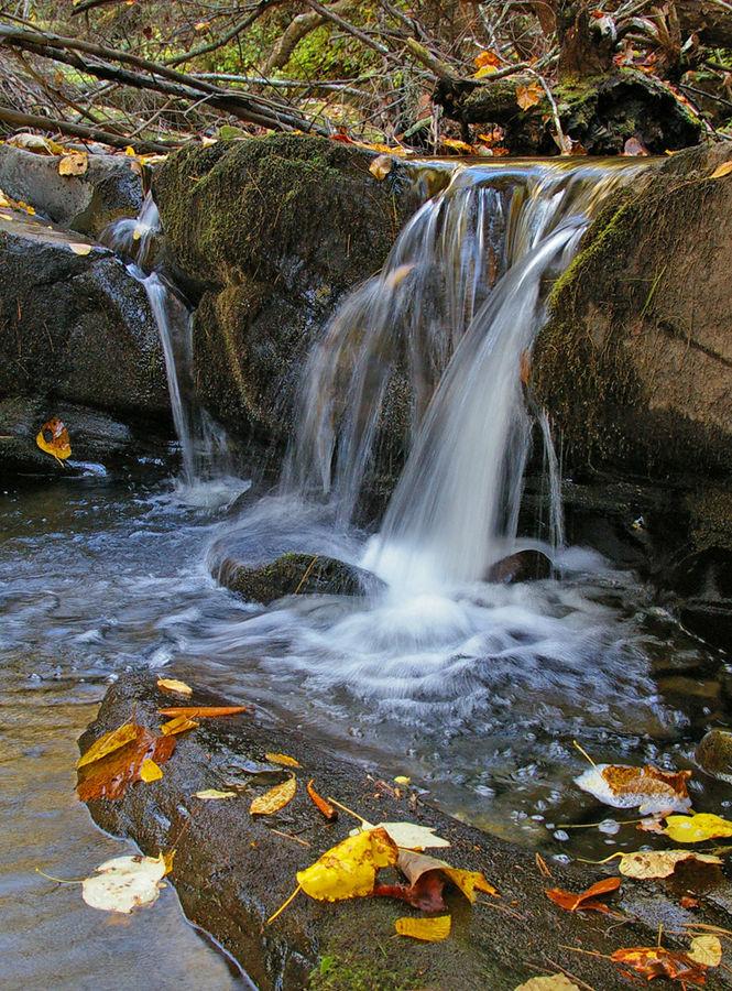Kleiner Wasser fall in den Smoky Mountains Tennessee USA