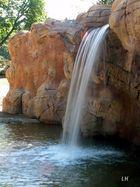 Kleiner Wasserfall im Zoo Leipzig