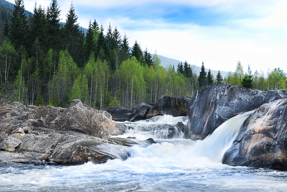 kleiner Wasserfall Norwegen