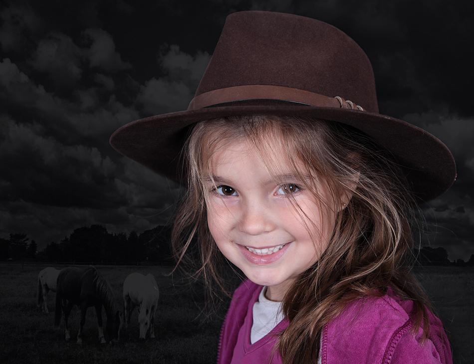 Kleines Cowboy-Mädchen