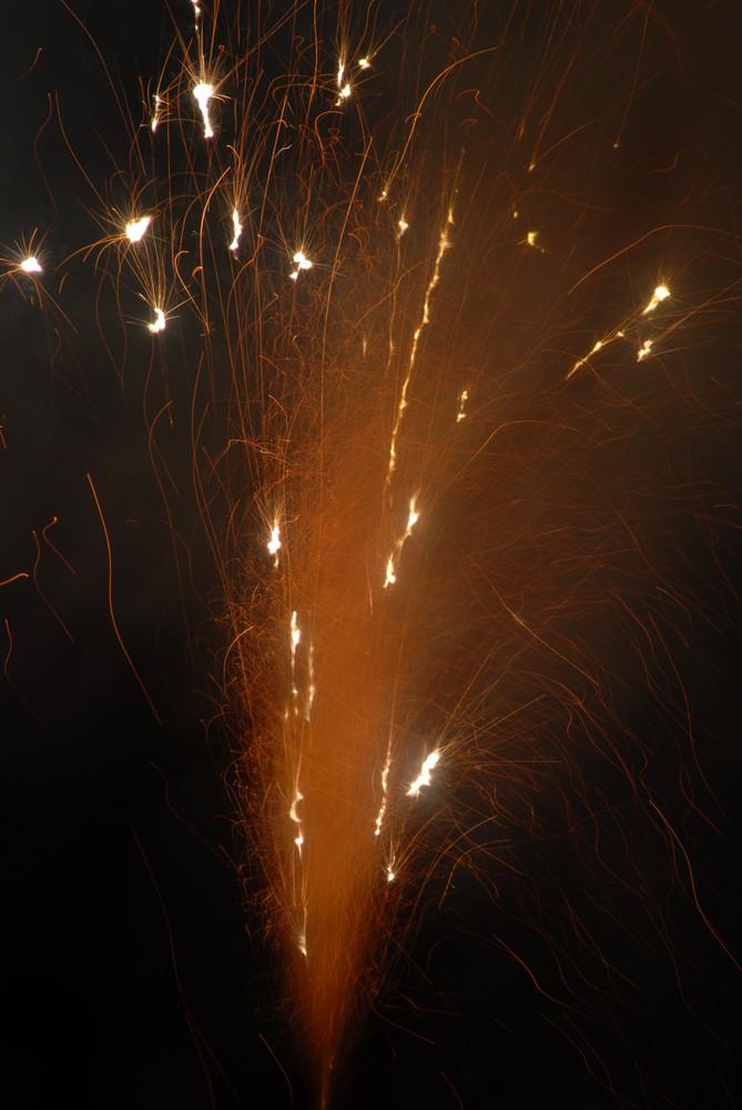 kleines Feuerwerk vor der Tür...