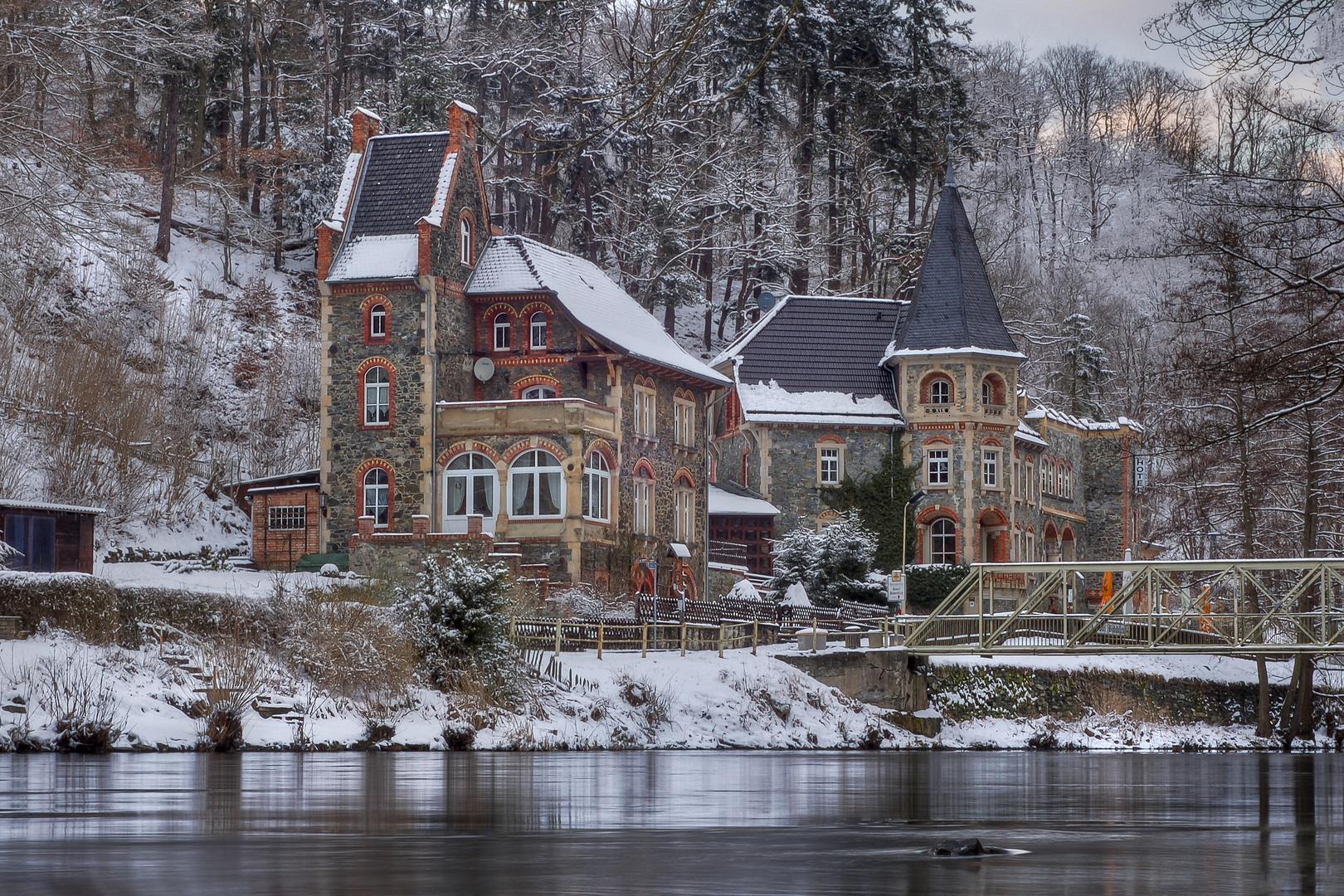 Kleines Hotel im Harz an der Bode