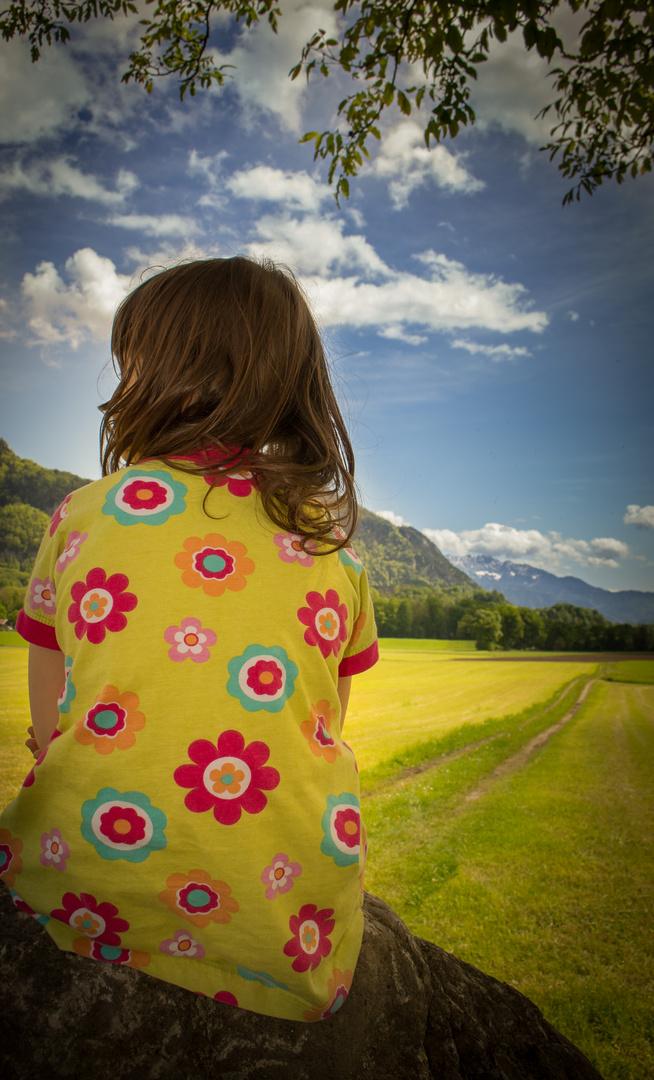 kleines Mädchen, große Berge