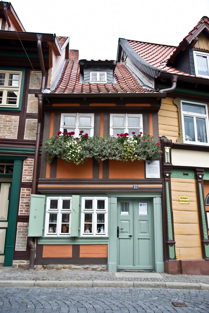 kleinstes Haus von Wernigerode Foto & Bild