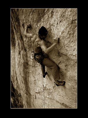 Kletterer am Falkenstein