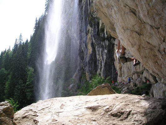 Klettern am Schleierwasserfall