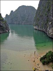 Klettern in der Halong Bay Vietnam 3
