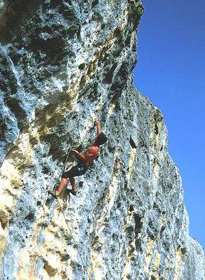 Klettern in Isili .