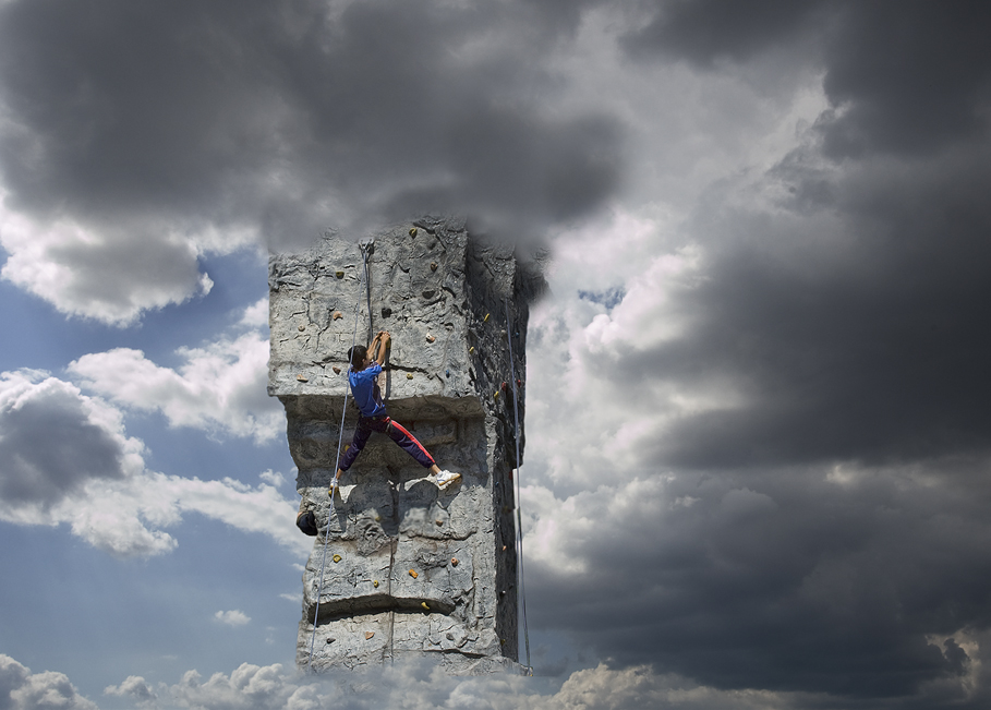 klettern ins ungewisse