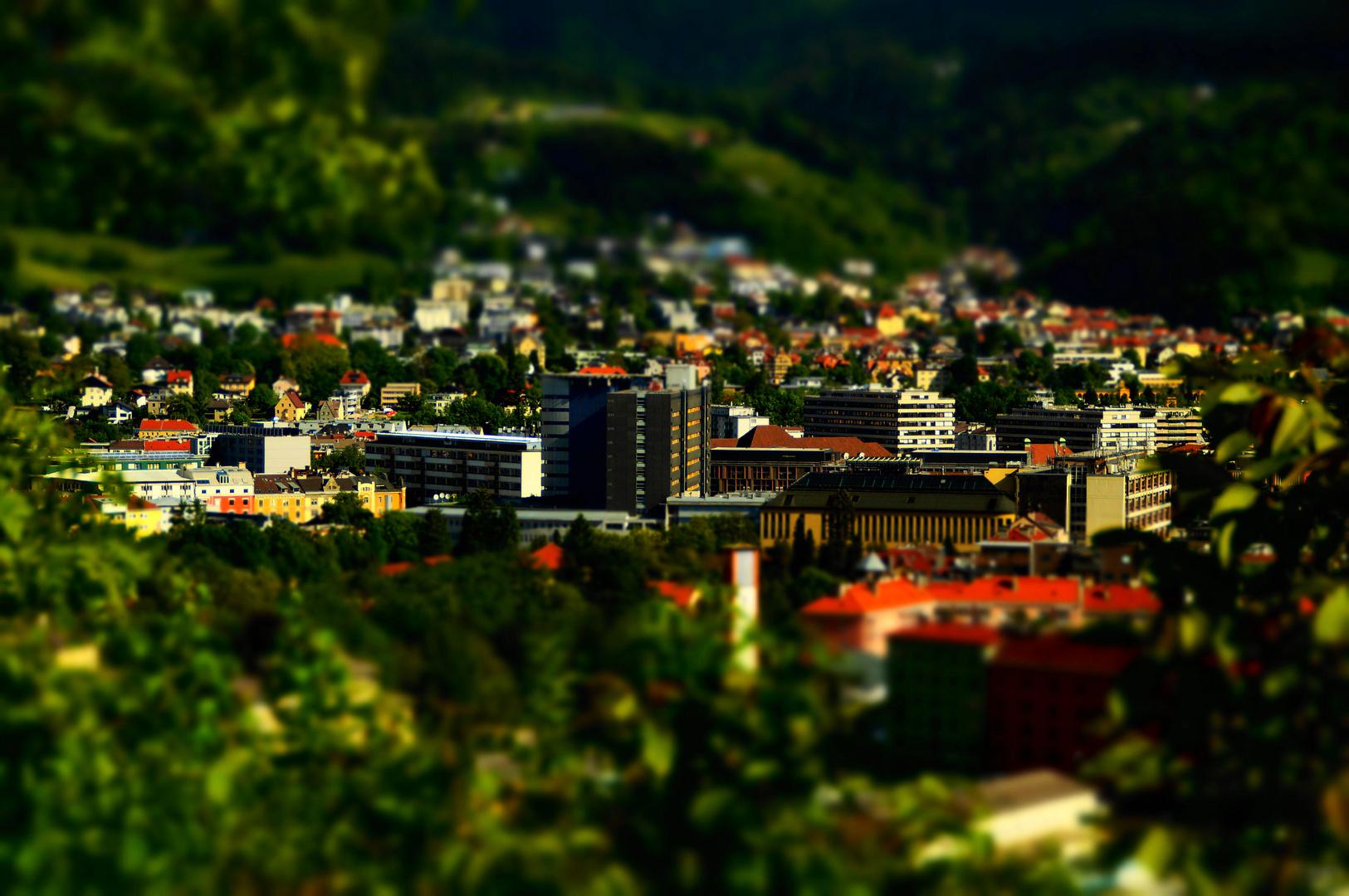 Klinik Areal Innsbruck in Miniatur