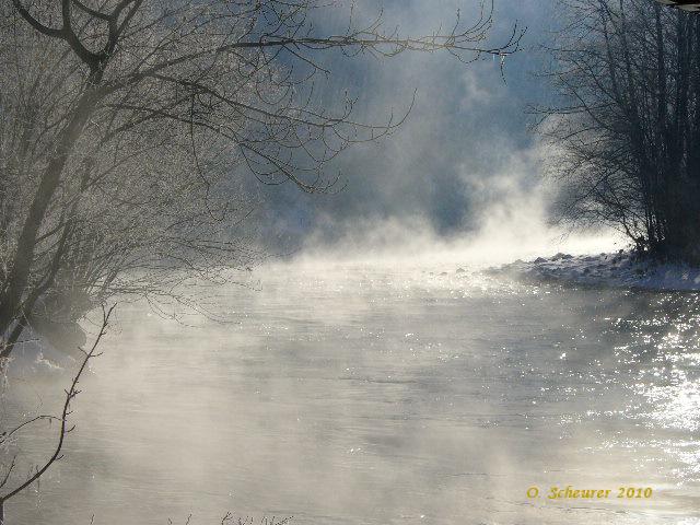 Klirrende Kälte an der Linth