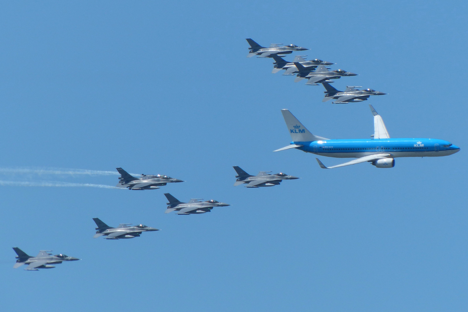 KLM + 10 F-16