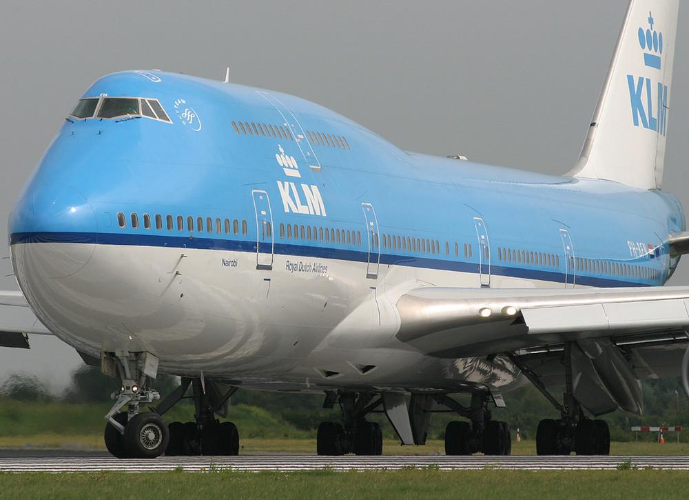 KLM B747 auf der Polderbaan
