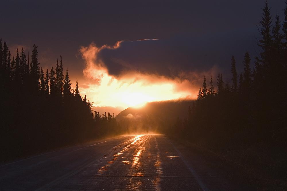 Klondike Highway nach dem Regen