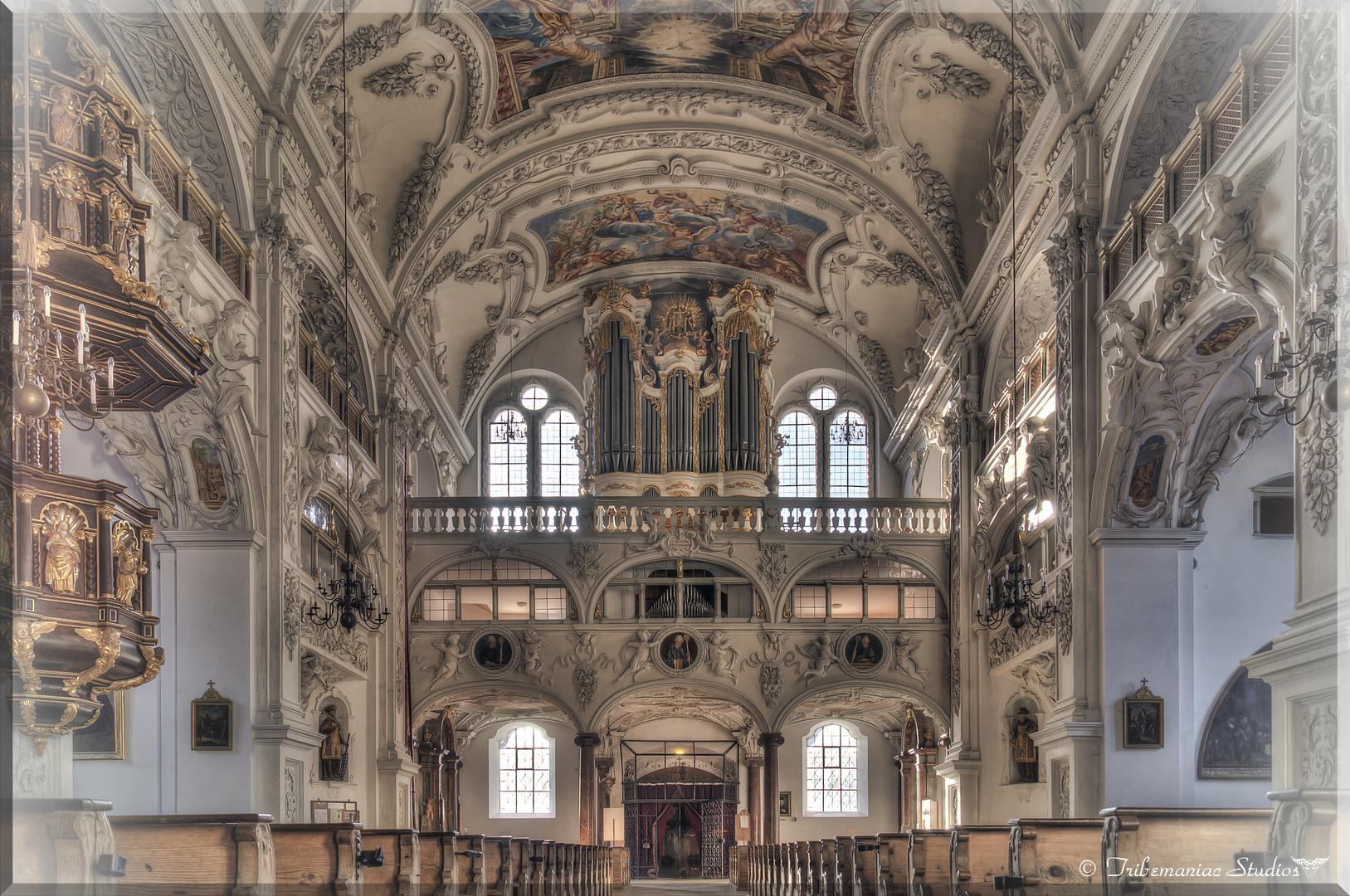 Kloster Benediktbeuern Innenansicht III Orgel